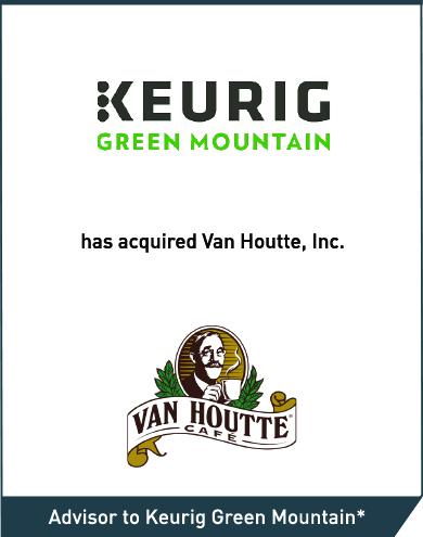 Keurig Green Mountain: Van Houtte, Inc.