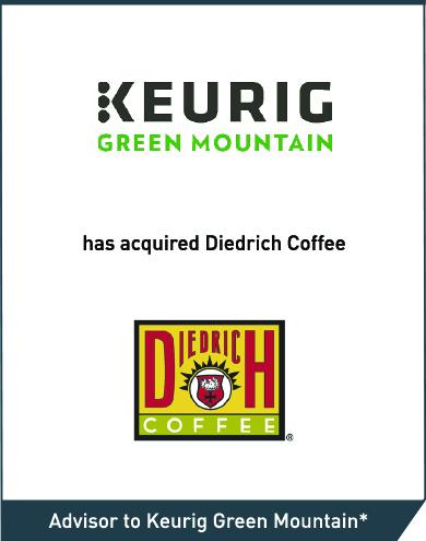 Keurig Green Mountain: Diedrich Coffee