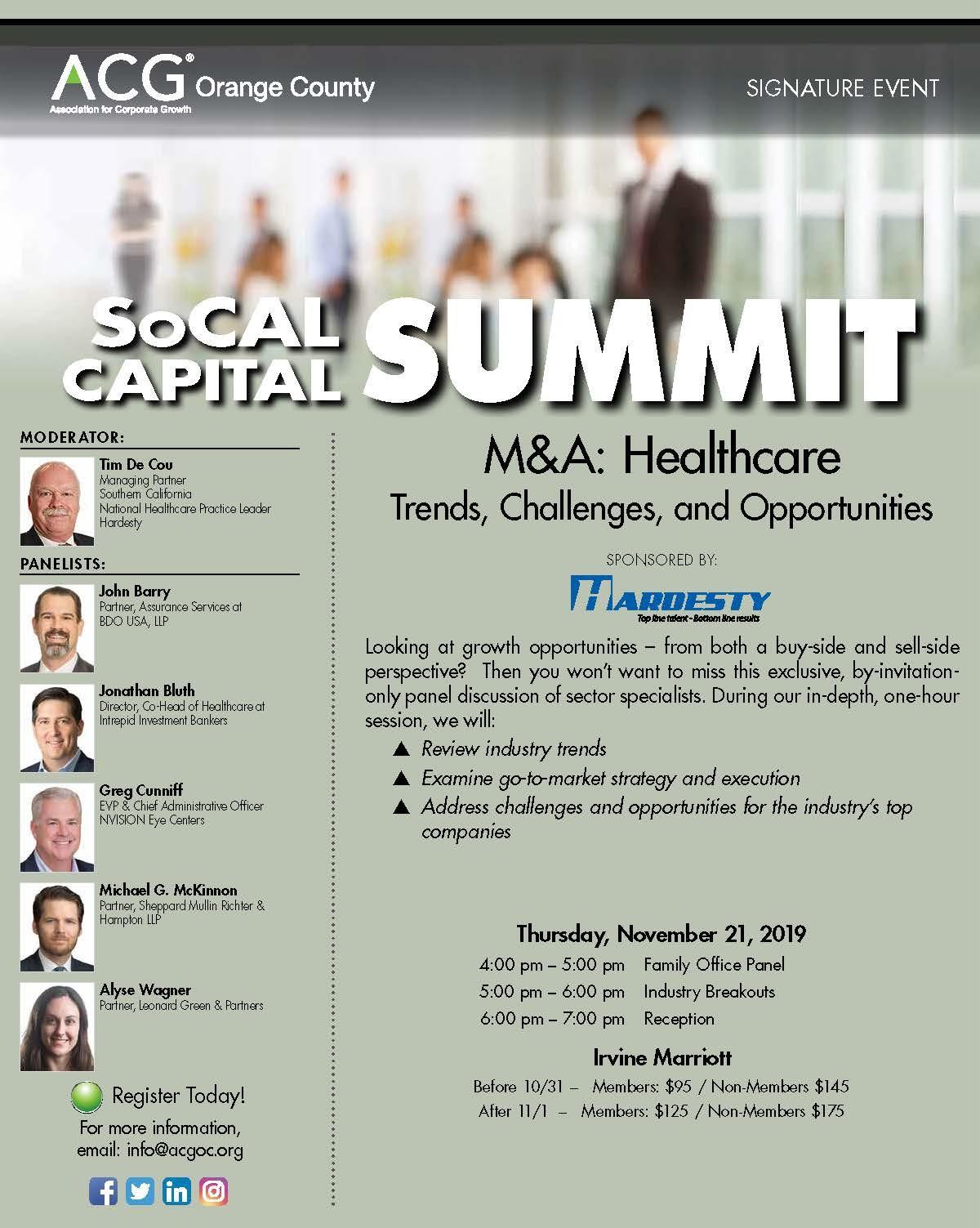 ACG OC SoCal Capital Summit