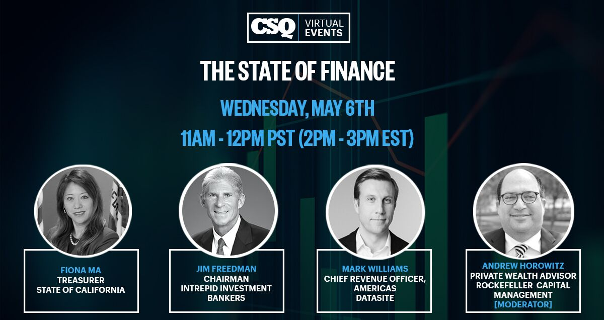 "Virtual Event - CSQ Speaker Series ""The State of Finance"""