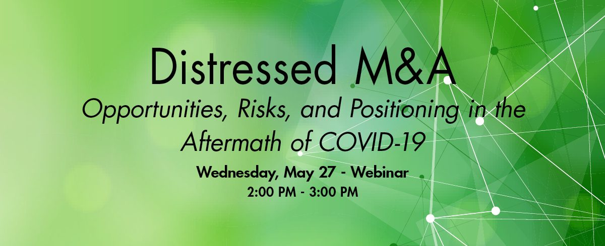 Distressed M&A Panel Webinar